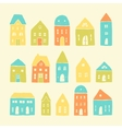 Colorful cartoon houses vector image vector image