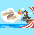columbus day holiday concept flat vector image vector image