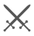 Crossed swords sign vector image vector image
