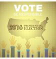 Digital usa presidential election 2016 vector image vector image