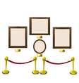 Empty Wooden Frames in a Museum vector image