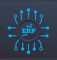 erp system icon vector image vector image