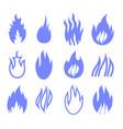 gas industry blue symbols vector image vector image