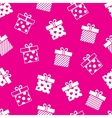 gift boxes pink seamless pattern vector image