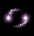glittering star dust circle of lights purple color vector image vector image