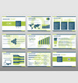 green elements for infographics on a white vector image vector image