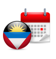 Icon of National Day in Antigua and Barbuda vector image vector image