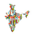 india country abstract map graphic design vector image