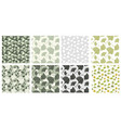 japanese patterns collection with gingko biloba vector image vector image