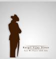 kargil vijay diwas 26th july vector image vector image