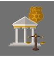 Law design Justice icon Grey background vector image vector image