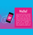 mobile phone banner info graphic vector image vector image