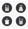 modern gift icons set vector image