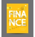 Modern infographic of finance concept vector image vector image