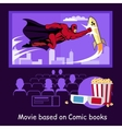 Movie Based on Comic Books Banner vector image vector image