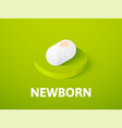 newborn isometric icon isolated on color vector image vector image