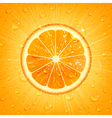 Orange Background with Water Drops vector image vector image