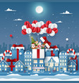 origami paper art cute christmas character on vector image vector image