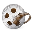 Reel of movie tape vector image vector image
