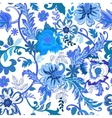Seamless floral background Colorful blue isolated vector image vector image