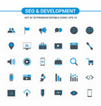 seo and development icons vector image