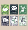 set creative holidays journaling cards merry vector image