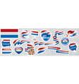 set national flag netherlands in vector image