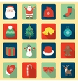 Set of Christmas Icons Flat design style with vector image vector image