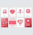 set of happy womans day artistic hand drawn vector image vector image