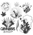 set of medical marijuana labels in vintage vector image vector image