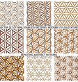 Set Of Nine Textured Natural Seamless Patterns vector image vector image