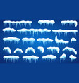 set of snowdrifts vector image