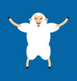 sheep happy ewe merryl emoji farm animal vector image vector image