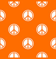 sign hippie peace pattern seamless vector image vector image