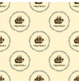 sign of king of the sea seamless pattern vector image vector image