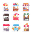street food stall retail business marquee with vector image