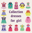 summer girl fashion Clothes for children vector image vector image