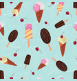 summer ice cream seamless pattern vector image vector image