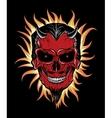 terrible head devil vector image