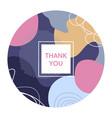 thank you social media creative banner template vector image