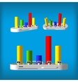 Three-dimensional color rhomboid infographics vector image vector image