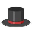 top hat icon cartoon style vector image vector image