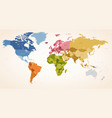 vintage colors political world map vector image vector image