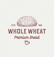 whole wheat bread abstract sign symbol or logo vector image vector image