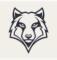 wolf mascot icon vector image