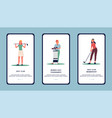 women golf club or tournament - app design flat vector image