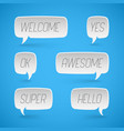 speech bubbles shapes for design promotion vector image
