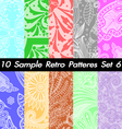 10 Retro Patterns Textures Set 6 vector image vector image