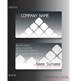 A grey colored business card vector image vector image