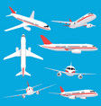 aircraft transport passenger flight jet airplane vector image